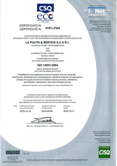 Certificazione Gestione ambientale 2