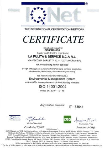 Certificazione Gestione ambientale 3