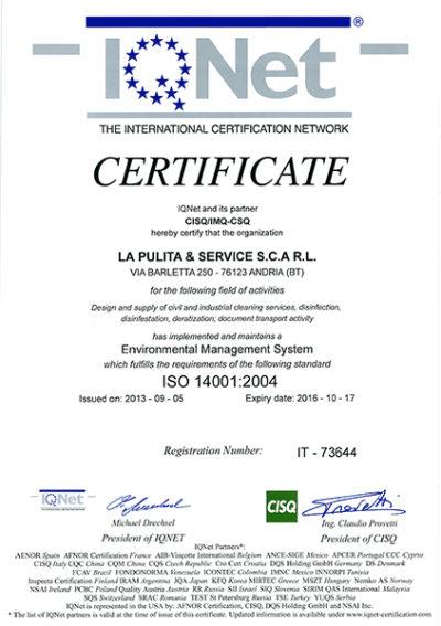 Certificazione Gestione ambientale 4