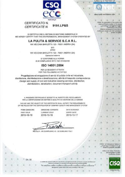 Certificazione Gestione ambientale 1