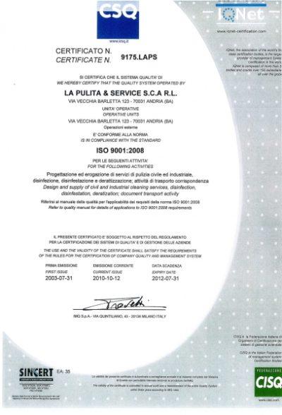 Certificazione Qualità CSQ