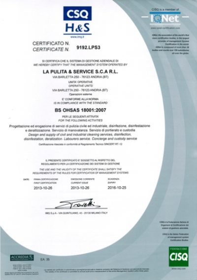 Certificazione Sicurezza 2