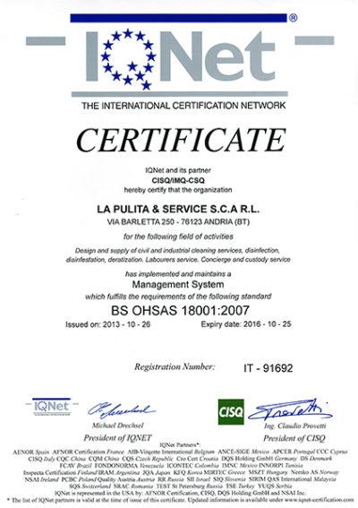 Certificazione Sicurezza 3 IQNet