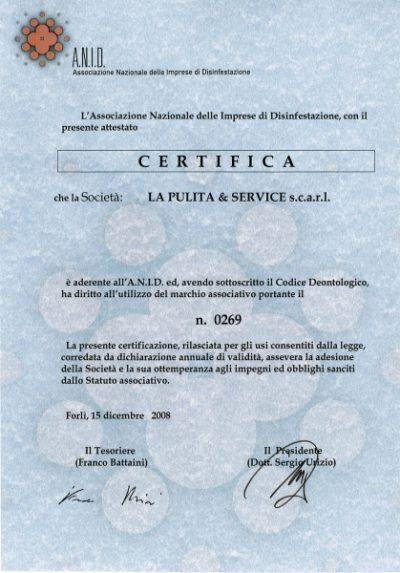 Certificazione A.N.I.D.